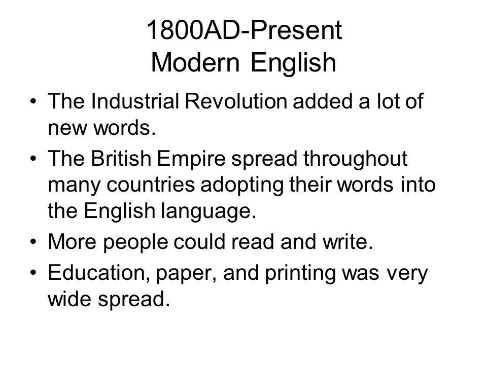 1800AD-Present Modern English