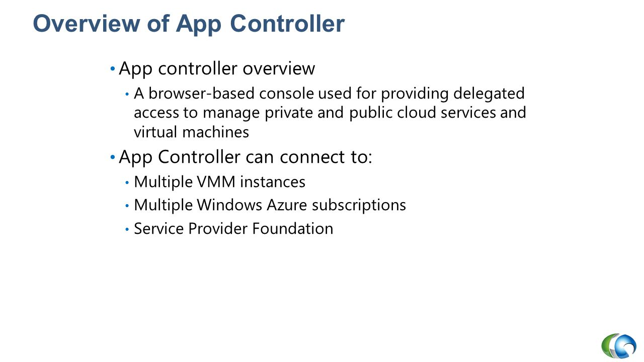 Overview of App Controller