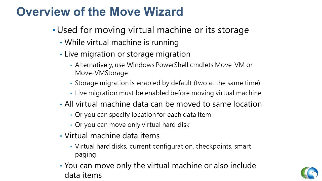 Overview of the Move Wizard
