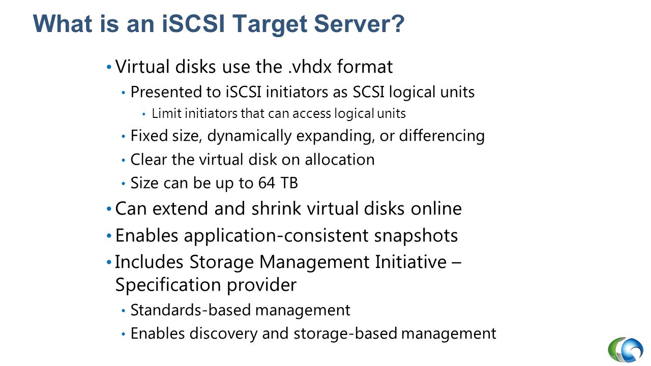 What is an iSCSI Target Server