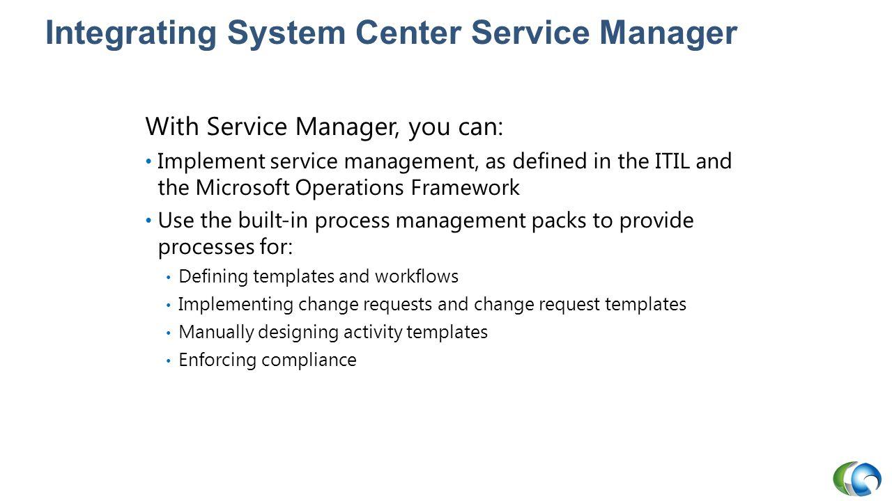 Integrating System Center Service Manager
