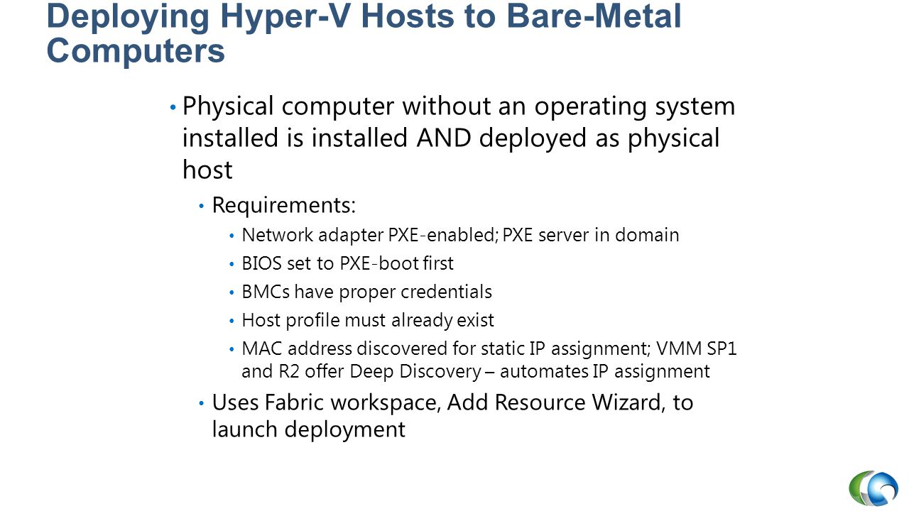 Deploying Hyper-V Hosts to Bare-Metal Computers