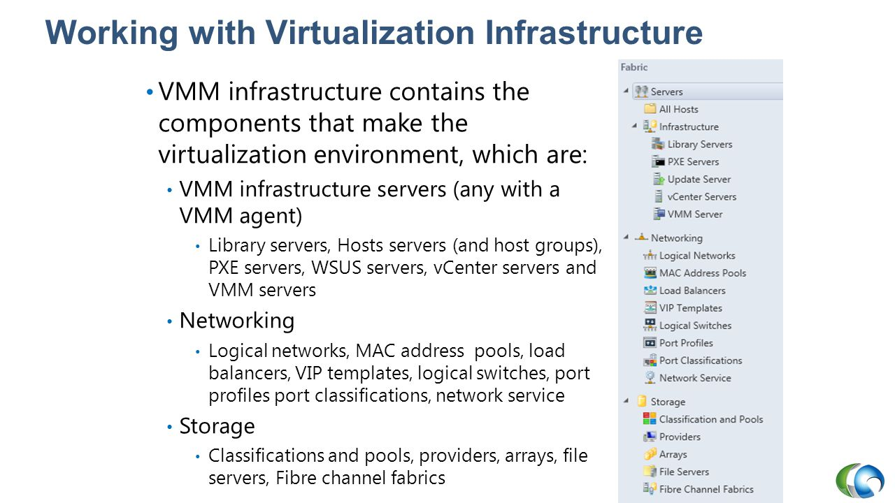 Working with Virtualization Infrastructure