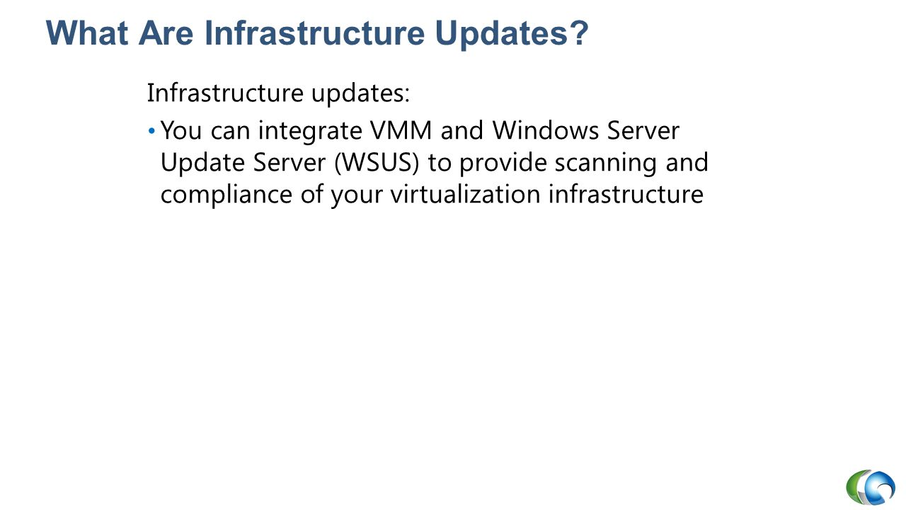 What Are Infrastructure Updates