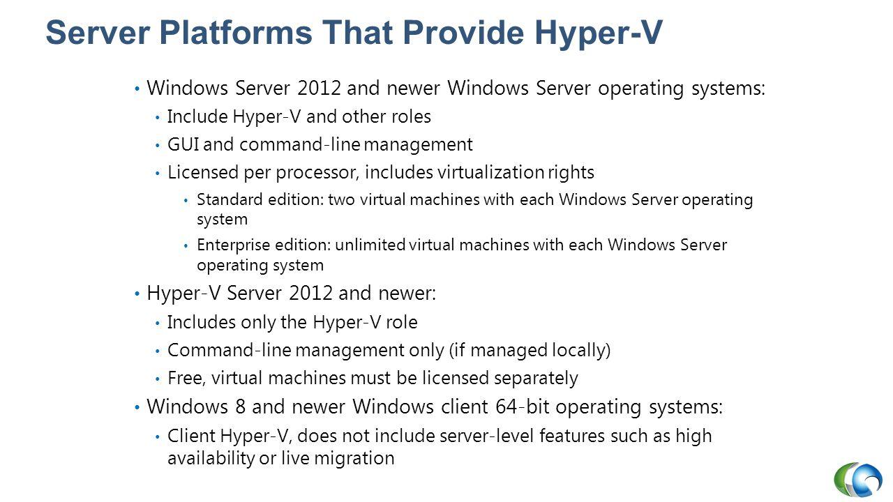 Server Platforms That Provide Hyper-V