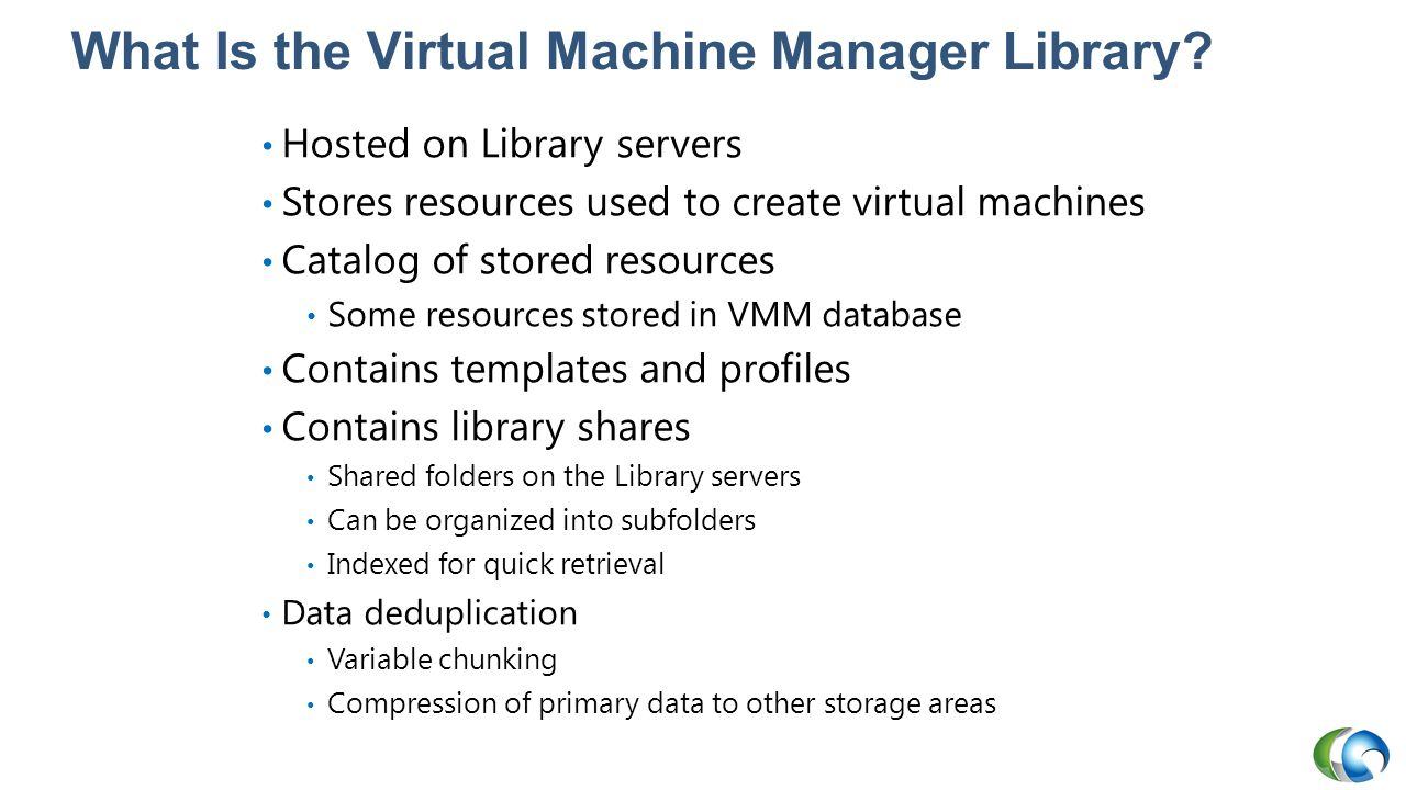 What Is the Virtual Machine Manager Library