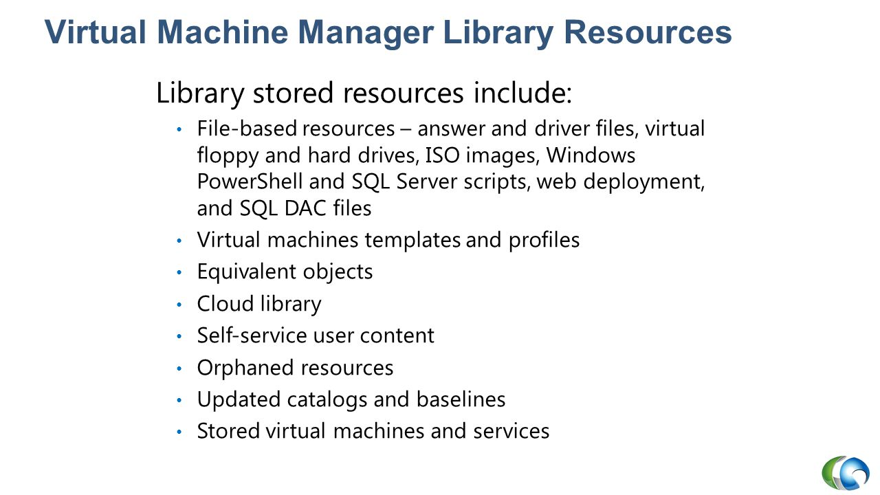Virtual Machine Manager Library Resources