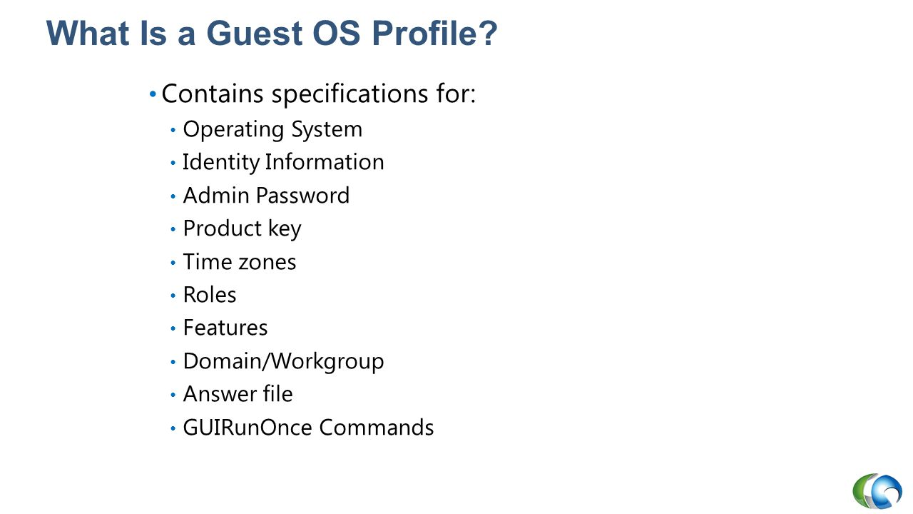 What Is a Guest OS Profile