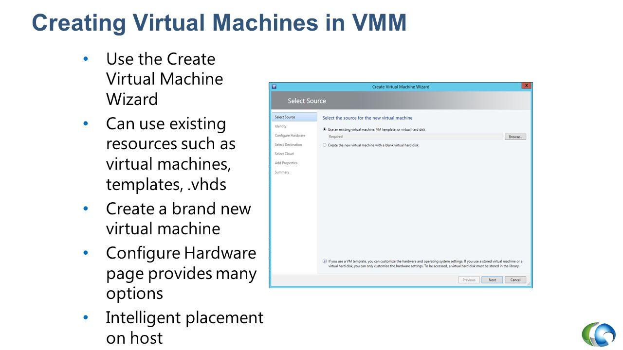 Creating Virtual Machines in VMM
