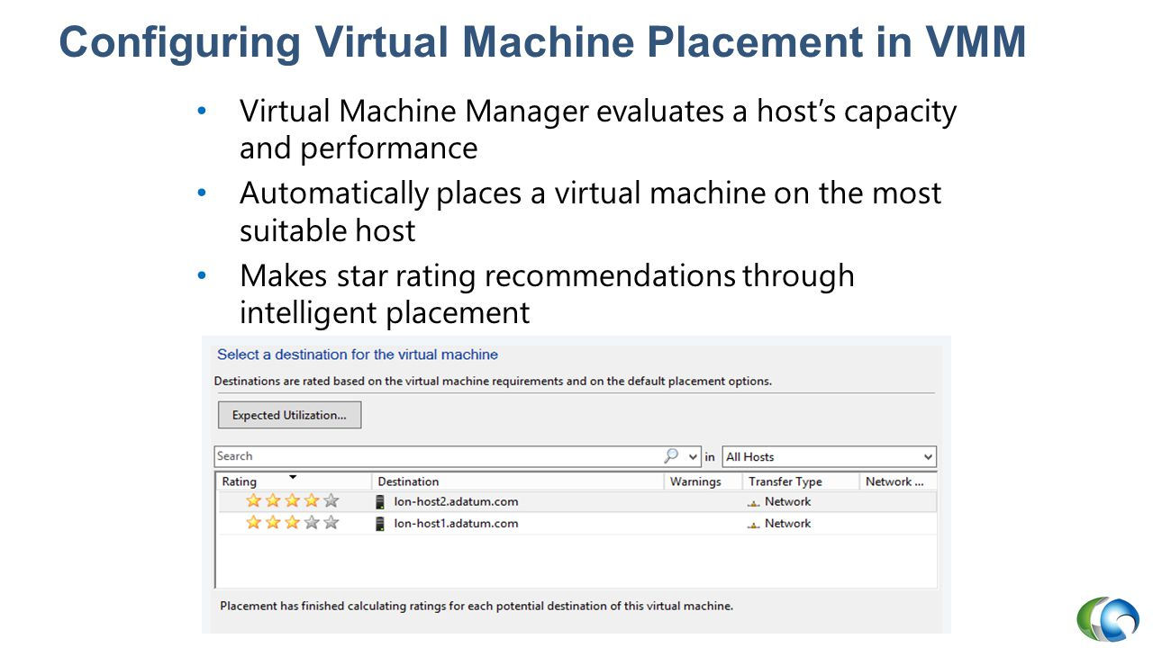 Configuring Virtual Machine Placement in VMM