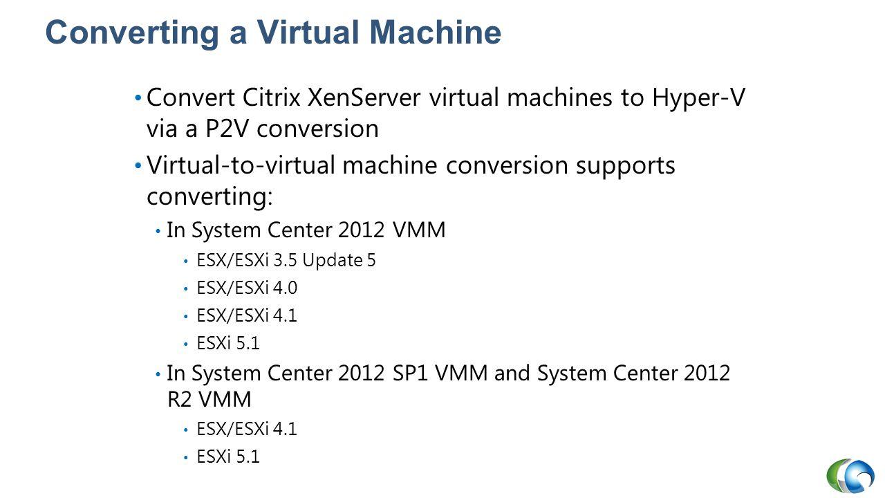 Converting a Virtual Machine