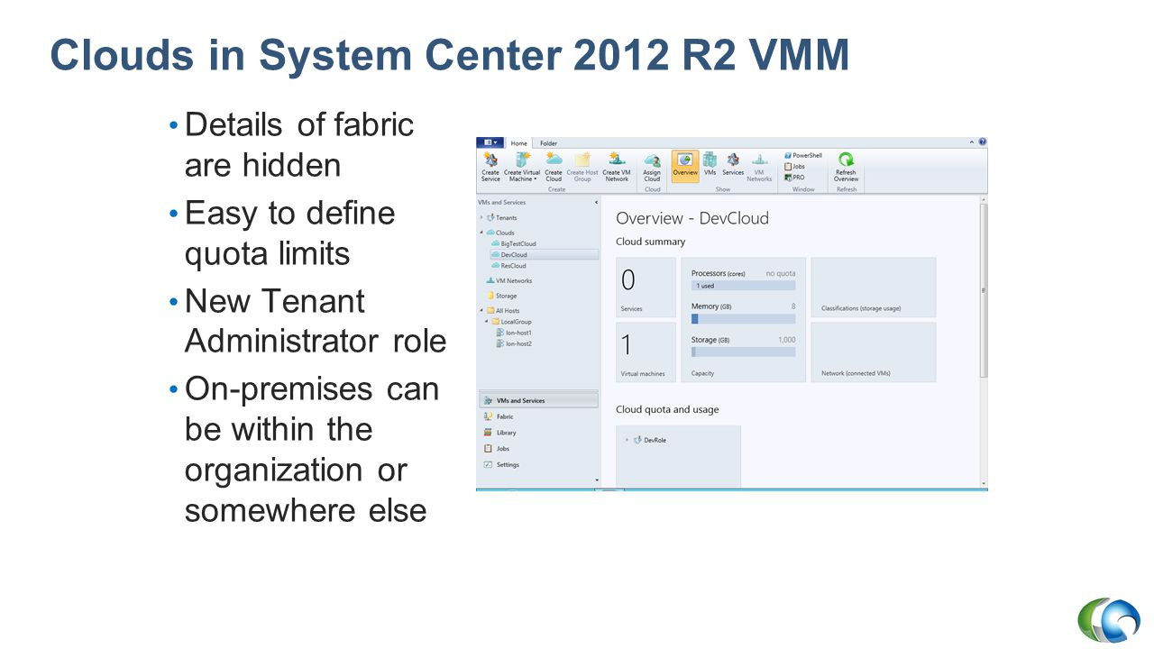 Clouds in System Center 2012 R2 VMM