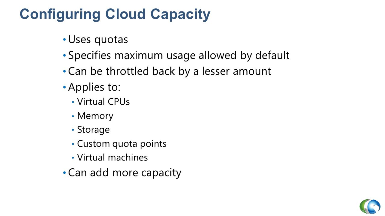 Configuring Cloud Capacity