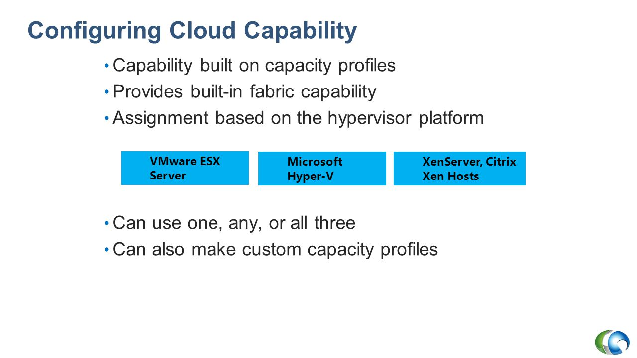 Configuring Cloud Capability