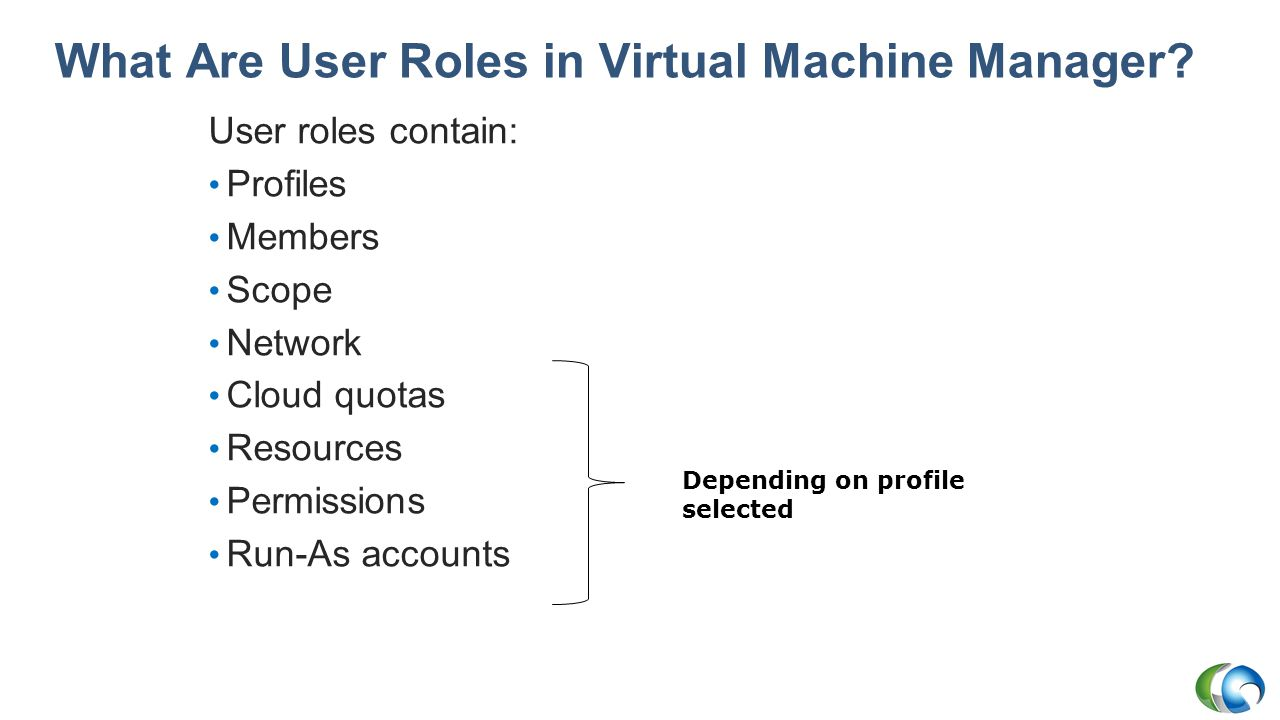 What Are User Roles in Virtual Machine Manager