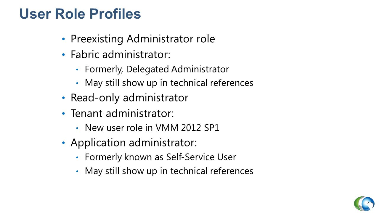 User Role Profiles Preexisting Administrator role