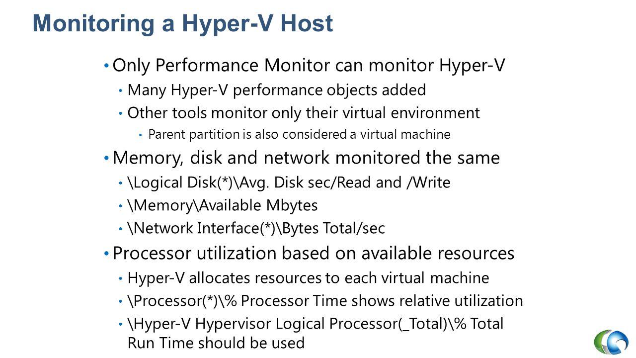 Monitoring a Hyper-V Host