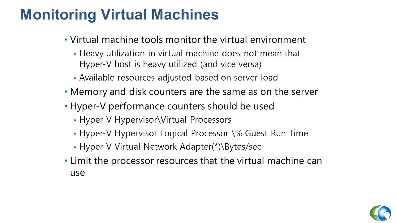 Monitoring Virtual Machines