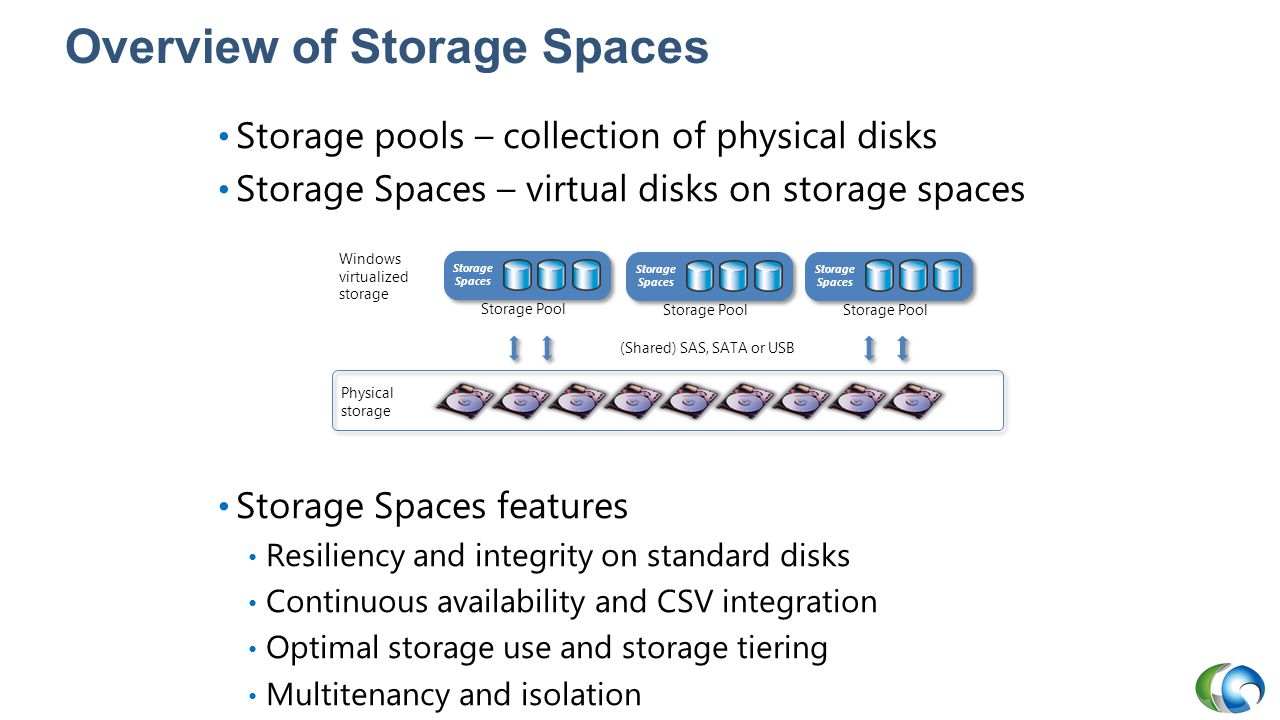 Overview of Storage Spaces