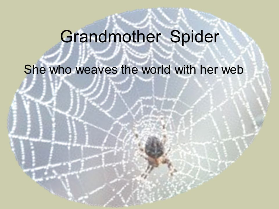 Grandmother Spider She who weaves the world with her web