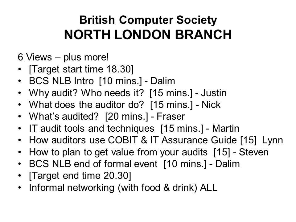 British Computer Society NORTH LONDON BRANCH