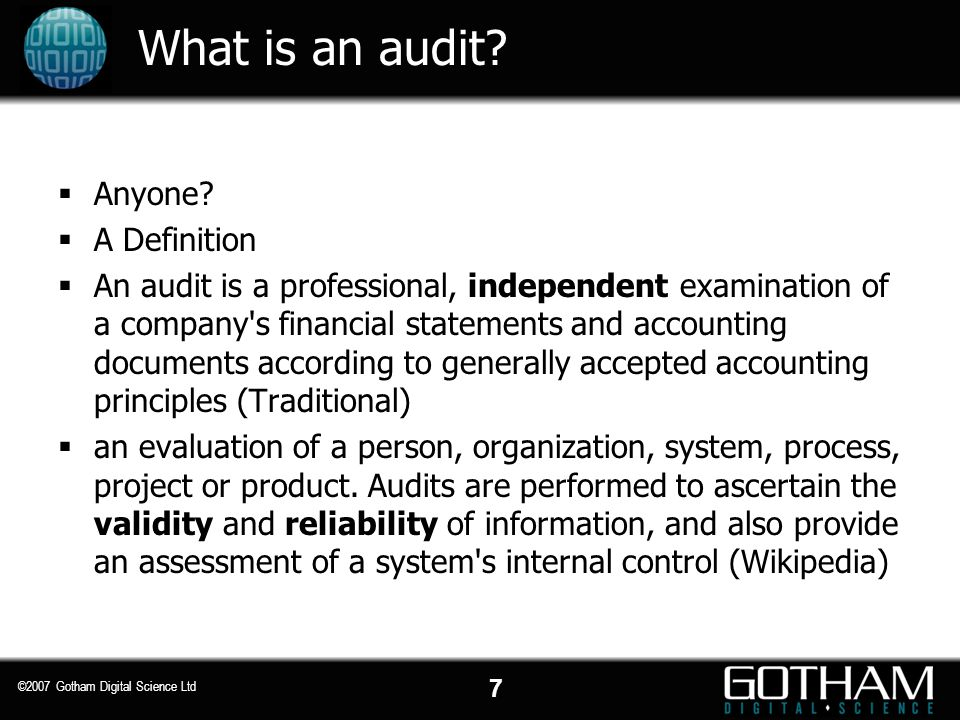 What is an audit Anyone A Definition