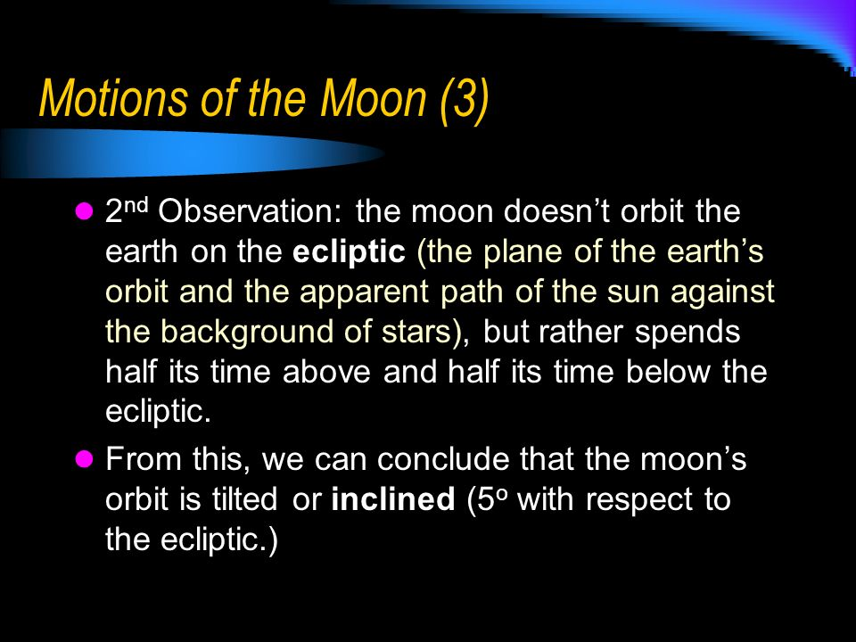 Motions of the Moon (3)