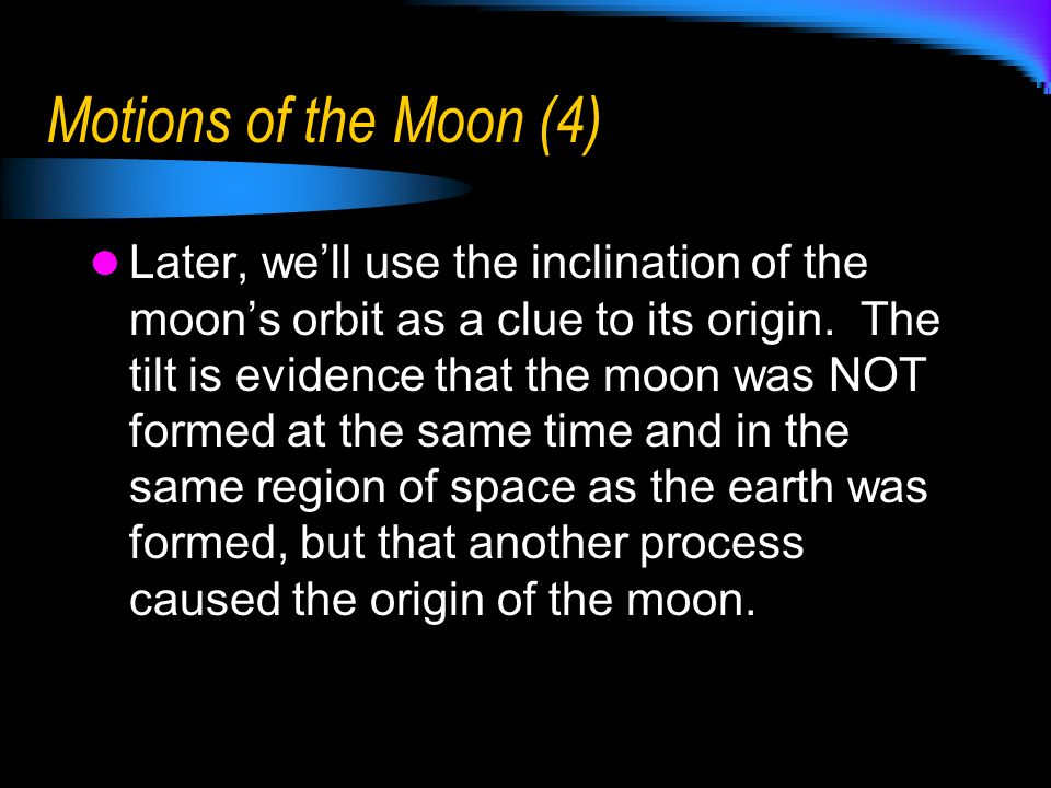 Motions of the Moon (4)