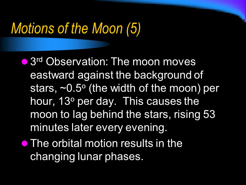 Motions of the Moon (5)