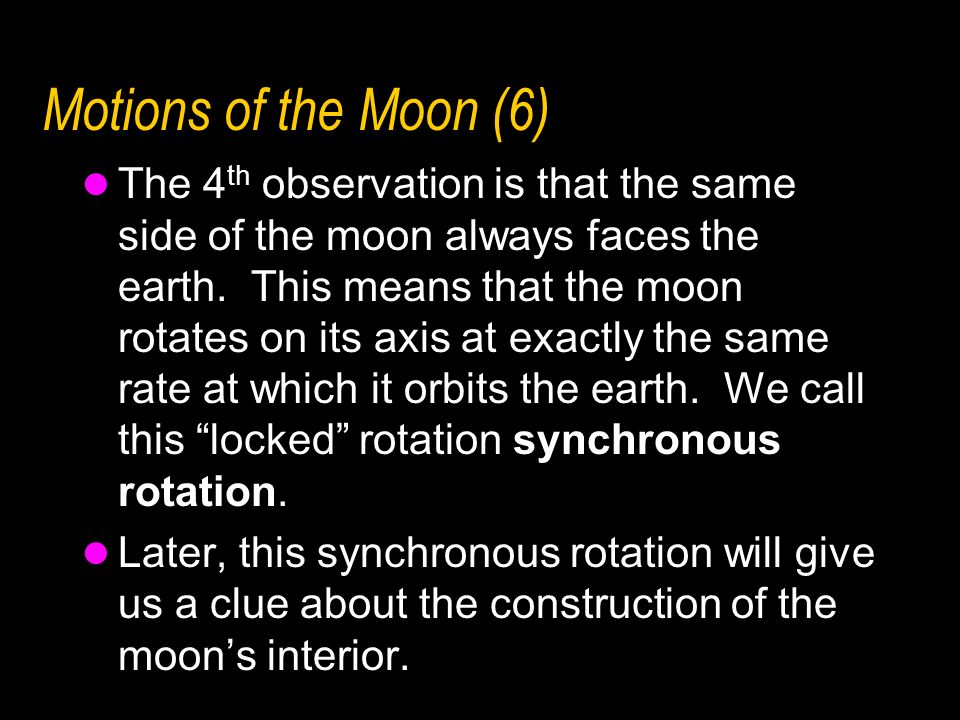 Motions of the Moon (6)