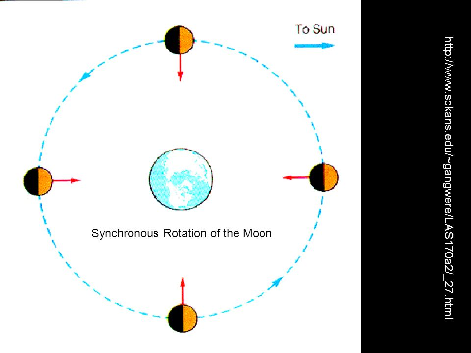http://www.sckans.edu/~gangwere/LAS170a2/_27.html Synchronous Rotation of the Moon