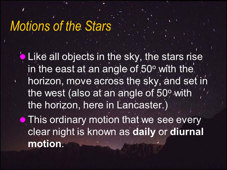Motions of the Stars