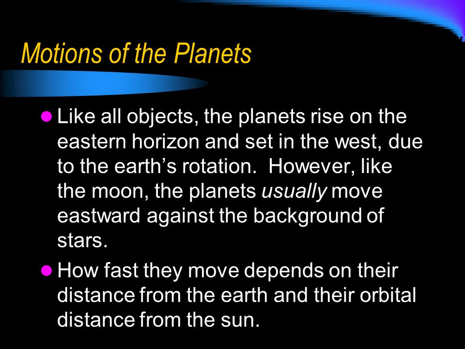 Motions of the Planets