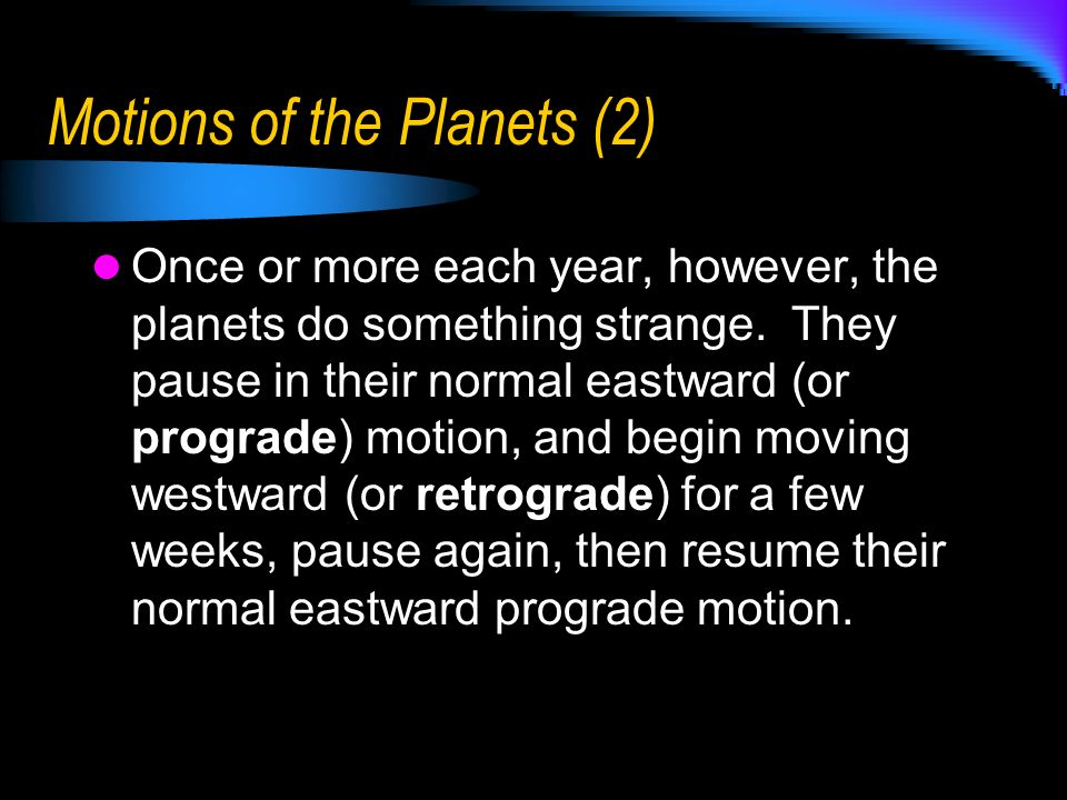 Motions of the Planets (2)