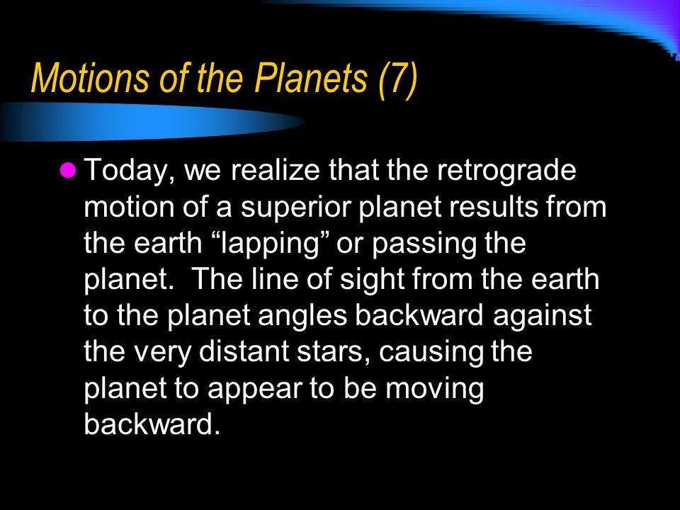 Motions of the Planets (7)