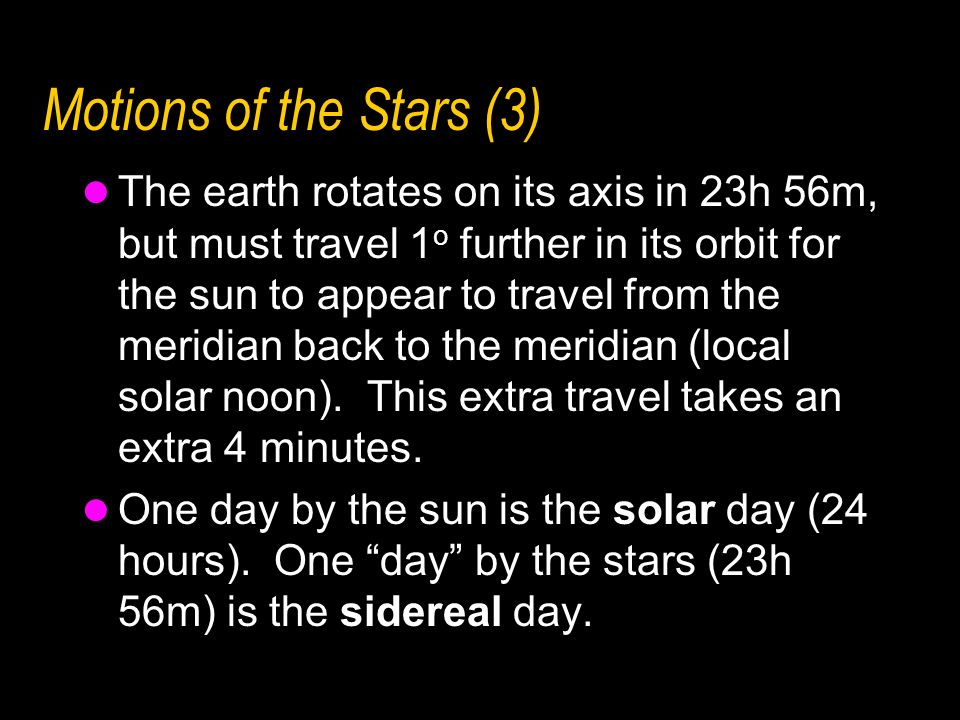 Motions of the Stars (3)