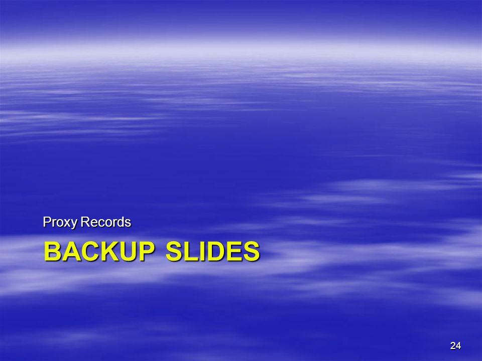 Proxy Records Backup Slides