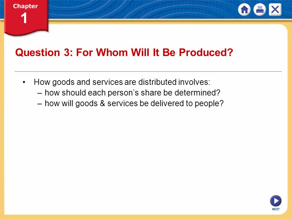 Question 3: For Whom Will It Be Produced