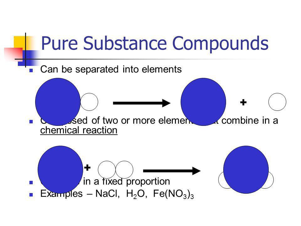 Pure Substance Compounds