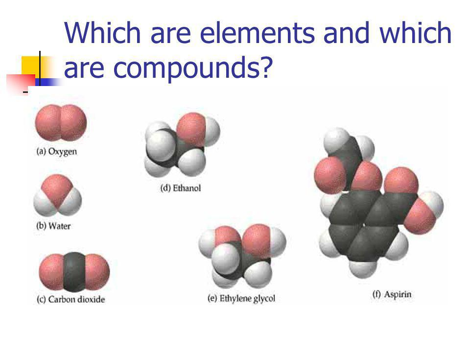 Which are elements and which are compounds