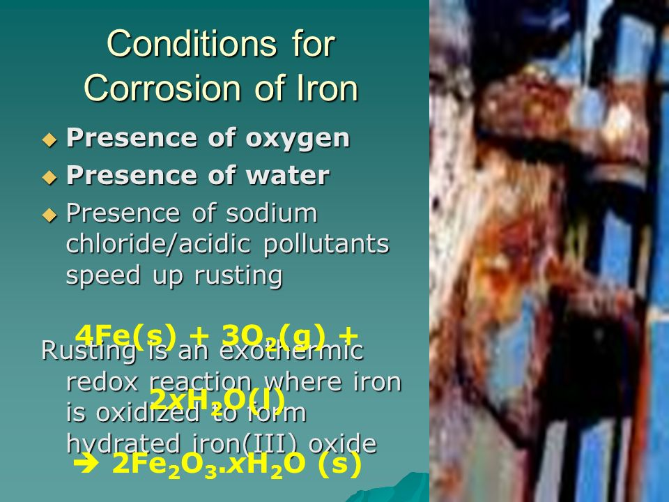 Conditions for Corrosion of Iron