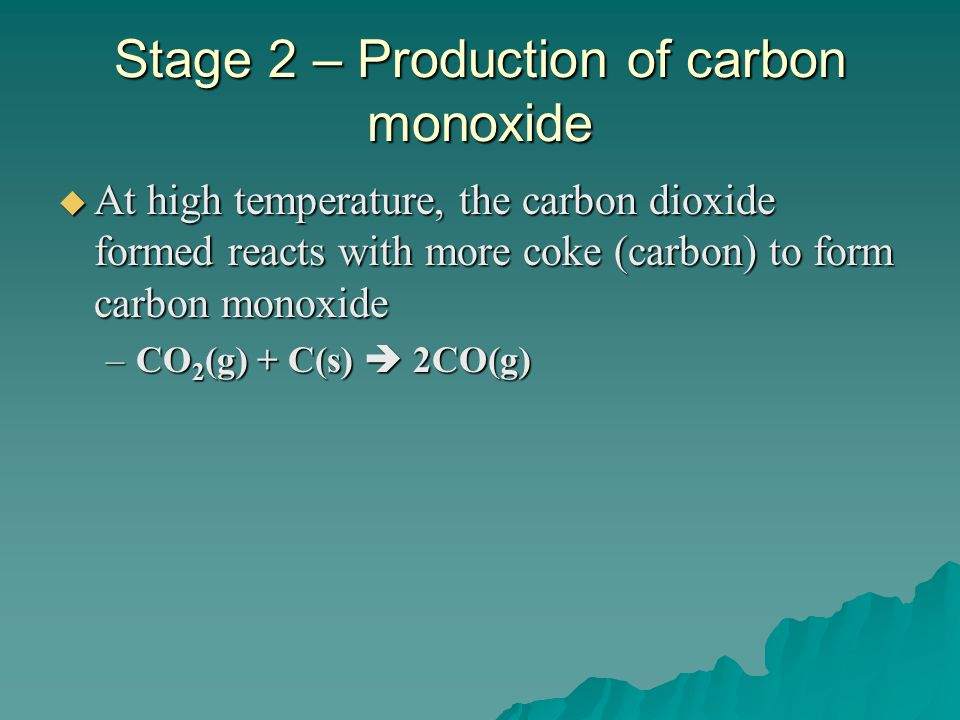 Stage 2 – Production of carbon monoxide