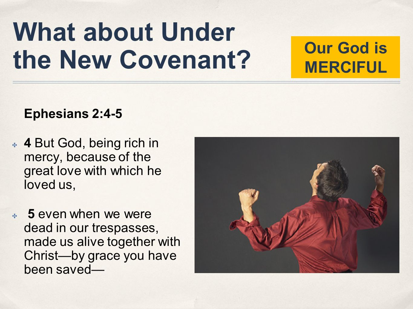 What about Under the New Covenant
