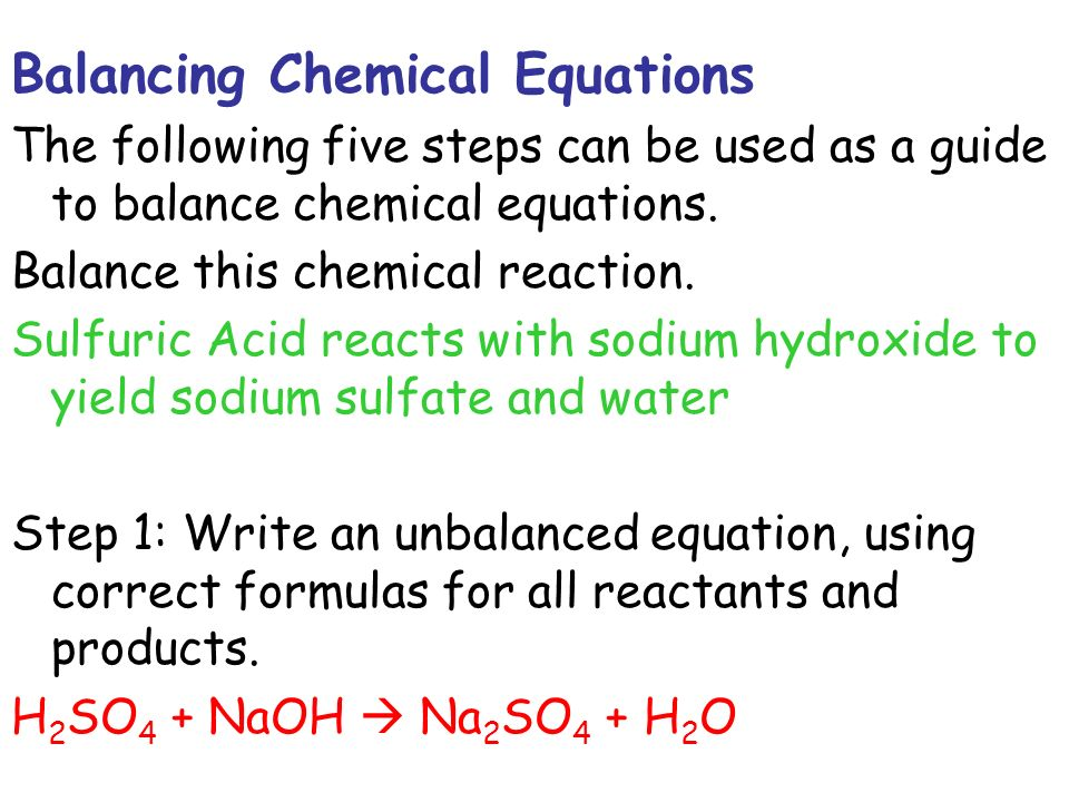 Balancing Chemical Equations Chemistry Tutorial
