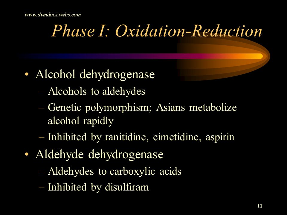 Phase I: Oxidation-Reduction
