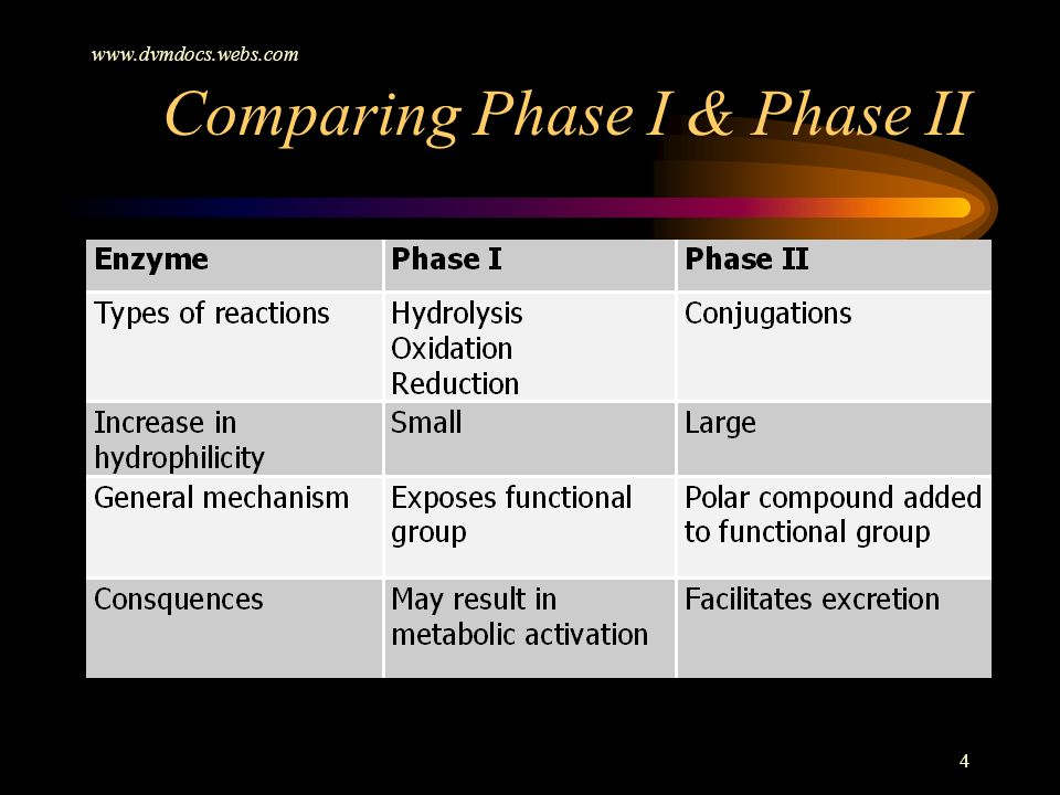 Comparing Phase I & Phase II