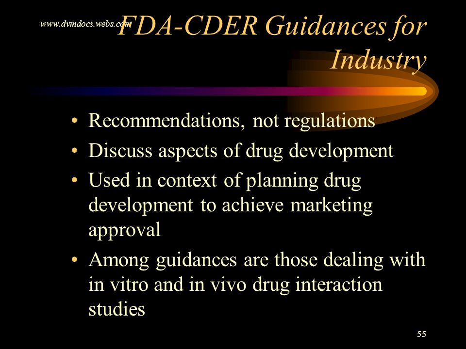 FDA-CDER Guidances for Industry