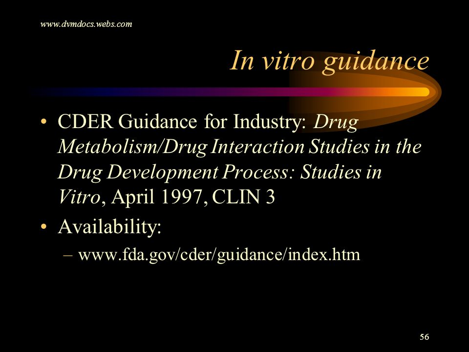In vitro guidance.