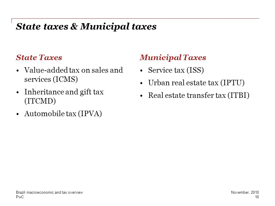 State taxes & Municipal taxes