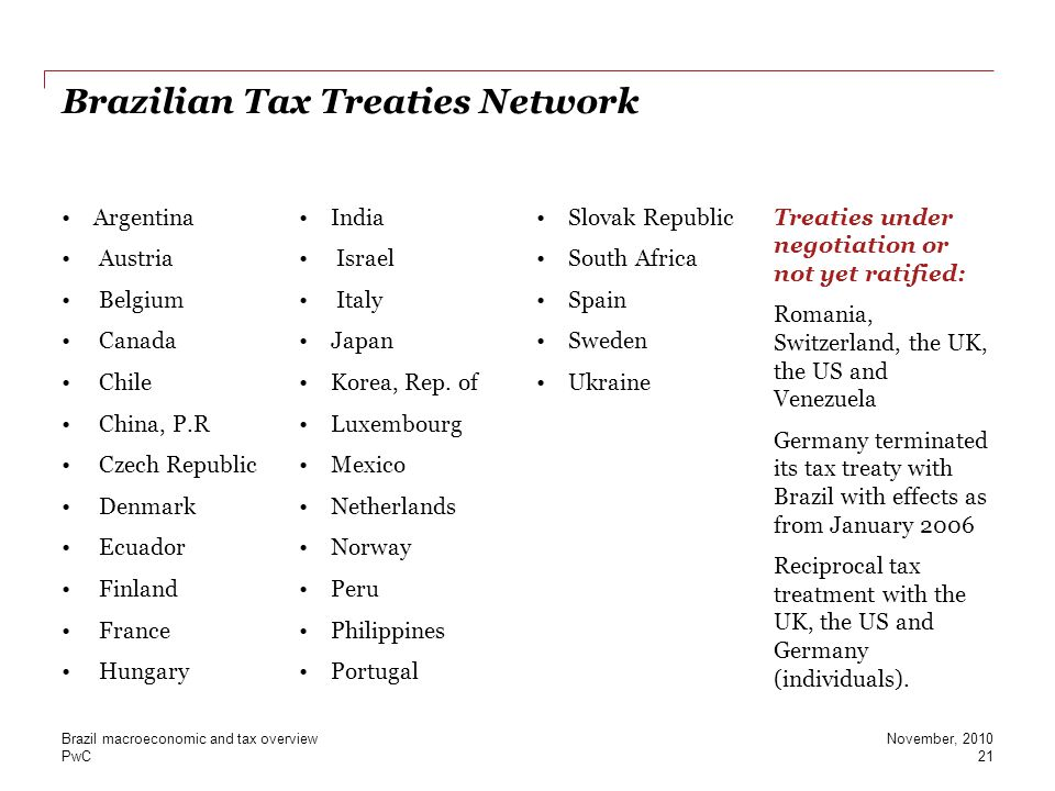 Brazilian Tax Treaties Network